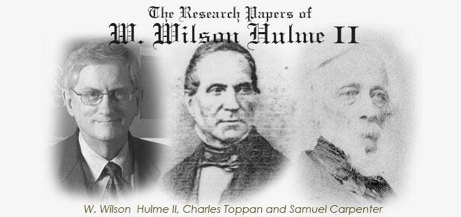 W. Wilson Hulme II Research Archive