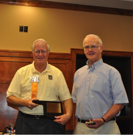 "At OKPEX the weekend of June 17, Dale Forster (photo) won the Reserve Grand Award with ""Australian Colonies - USA Mail"""