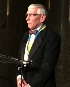 Past-President Richard F. Winter with medal