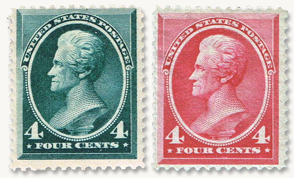 In 1883 The Four Cent Jackson Was Last Value Added To Banknote Series Pay Double Weight Letter Rate It Only Printed By ABNC